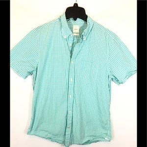 Gap Lived-In Short Sleeve Checkered Shirt - L